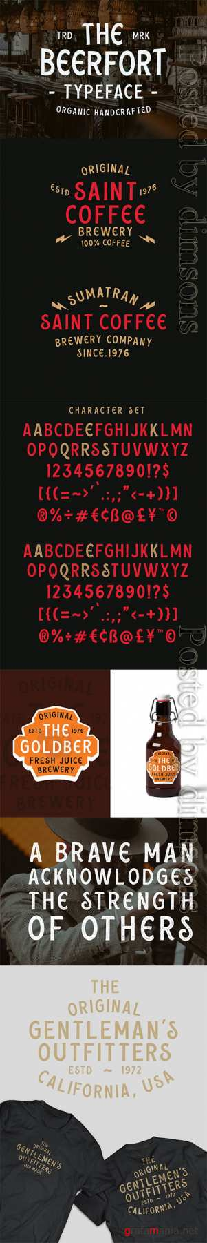 Beerfort font duo (8 Font Total)