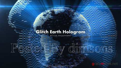 Glitch Earth Hologram 7