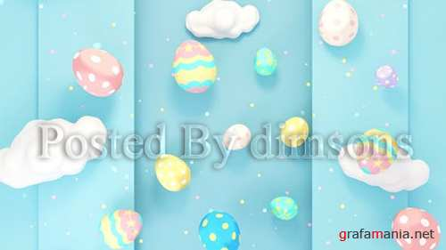 Cute Easter Eggs World 23441080