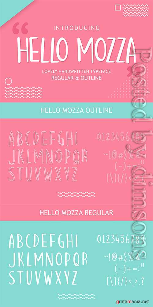 Hello Mozza - Display Font