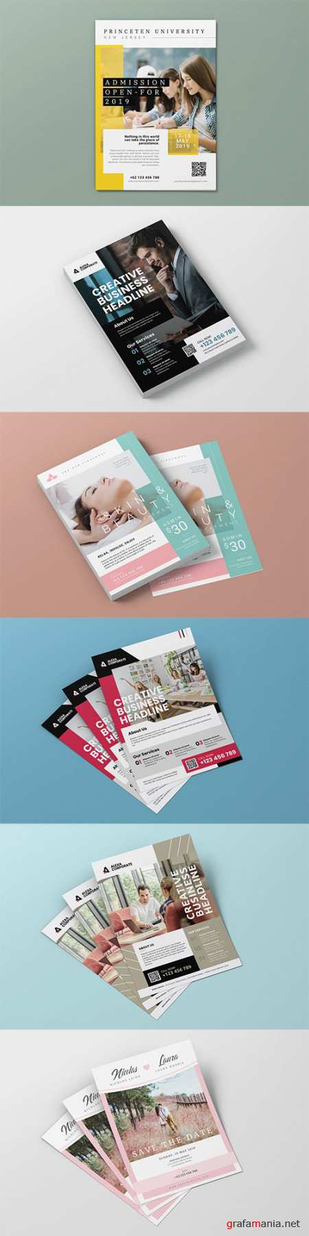 6 Blean Business, Spa, Education, Wedding Flyers