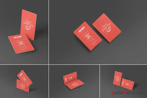 Stylish Round Business Card Mockups