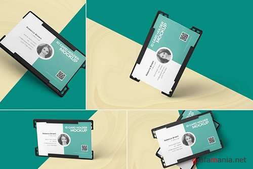 ID Card Holder Mockups