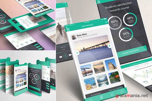 Multi-Screen Mockups For iPhone