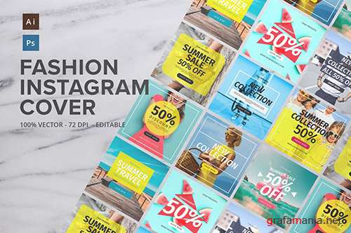Fashion Instagram Cover PSD