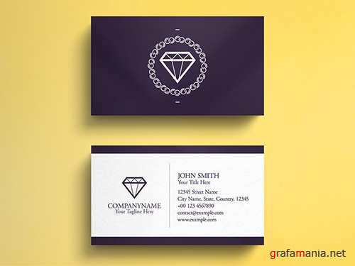 PSDT Jewelry Business Card Layout 260559273