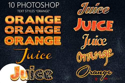10 Orange Photoshop Styles