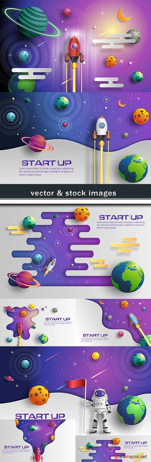 Start up business options elements background