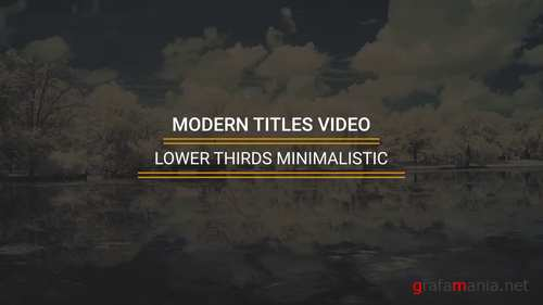 MA - Lower Thirds Minimalistic 225894