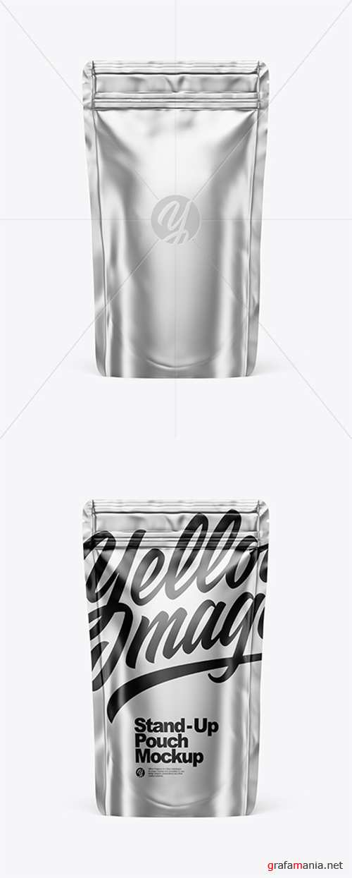 Metallic Stand Up Pouch W/ Zipper Mockup 43384 TIF