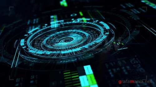 MA - Blue HUD Technology Background 238014