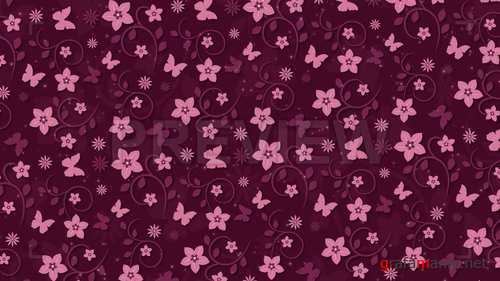 MA - Dark Pink Background With Flowers 237710