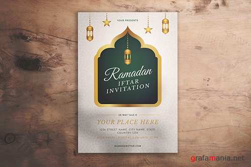 Ramadan Iftar Invitation Flyer PSD
