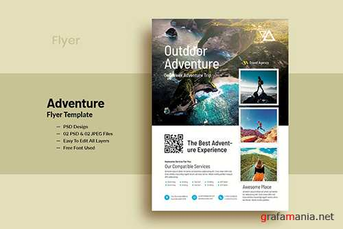 OutDoor Adventure Flyer Template PSD