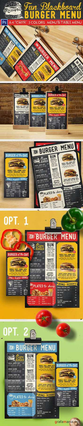 GR - Fun Blackboard Burger Menu 22066560