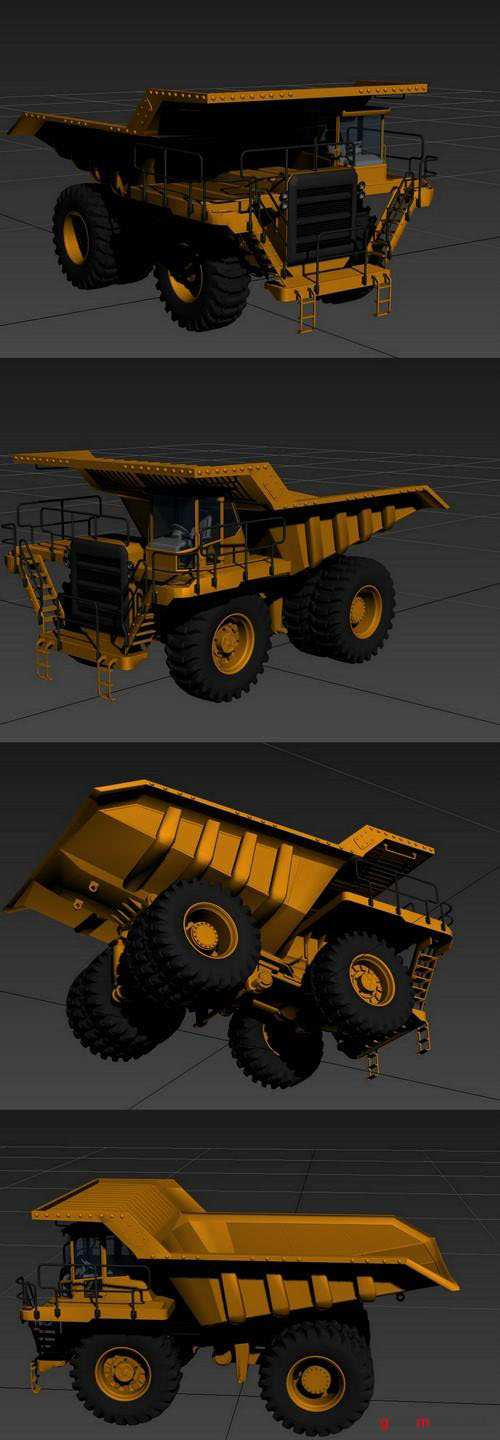 Off Highway Truck 3D Model