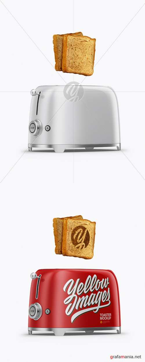 Toaster With Bread Mockup - Half Side View 27823 TIF