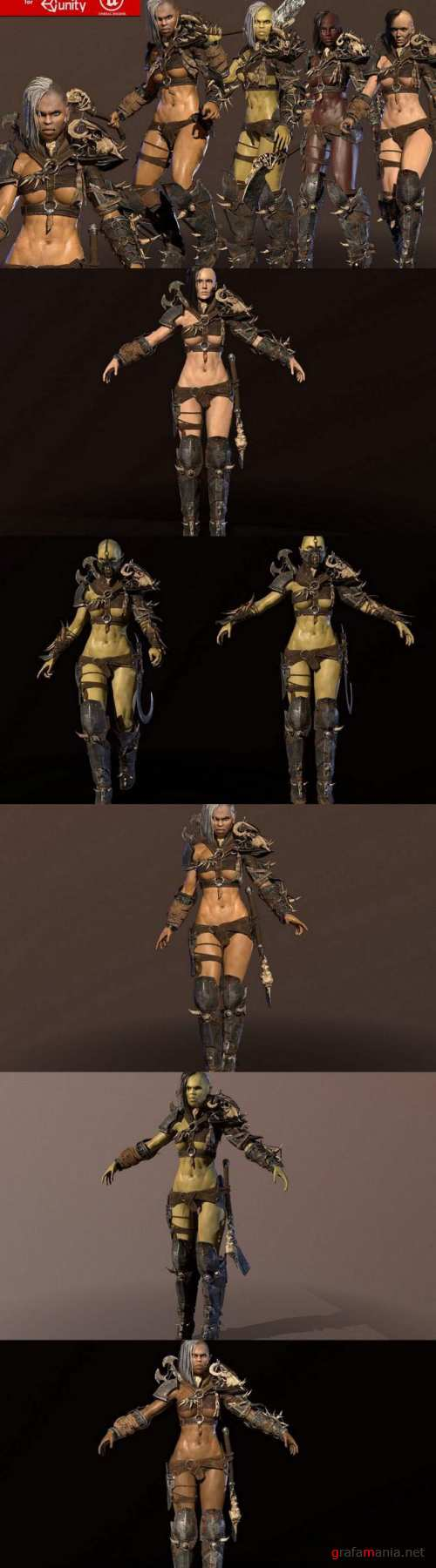 Orc Girls Collection – 3D Models