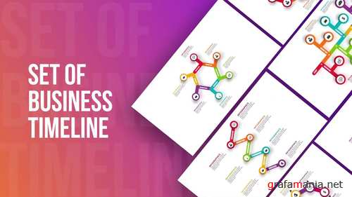 MA - Set Of Business Infographics Timeline 242082