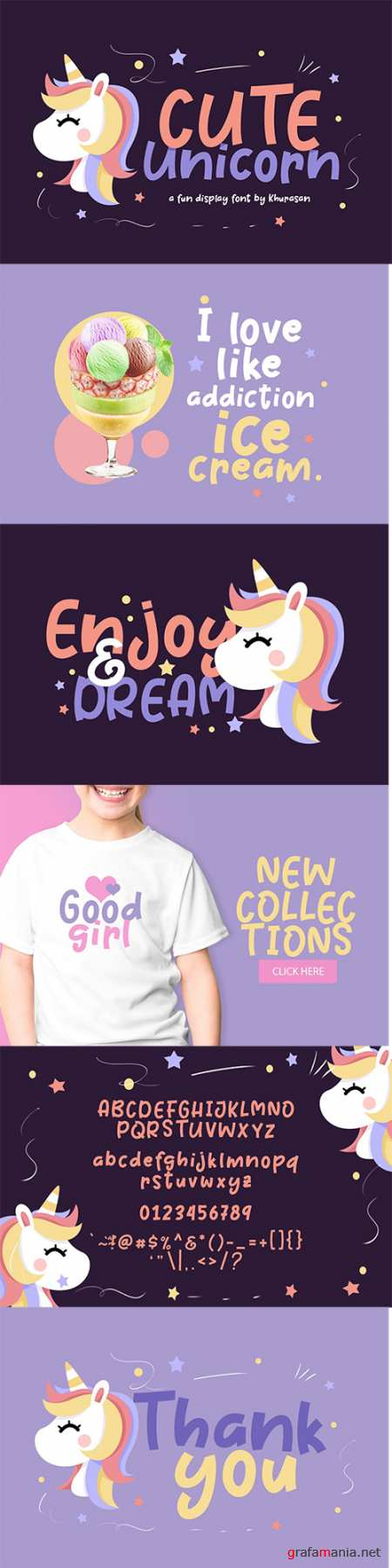 Cute Unicorn Font