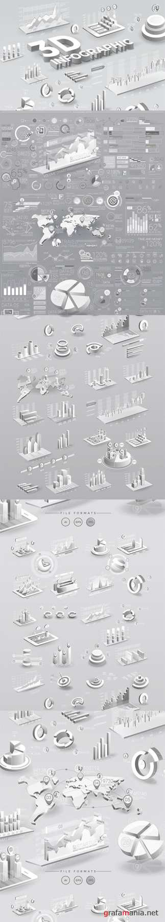 Vector White Infographic Elements