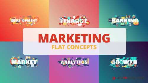 MA - Marketing - Word Flat Concept 221177