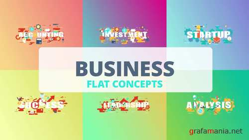 MA - Business - Word Flat Concept 221173