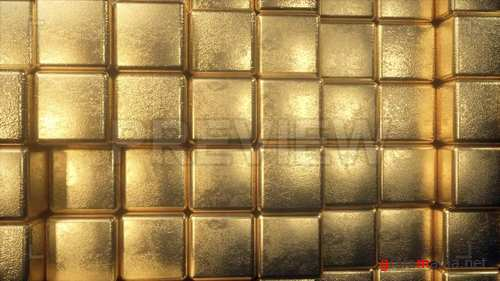 MA - Wall Of Golden Cubes 244690