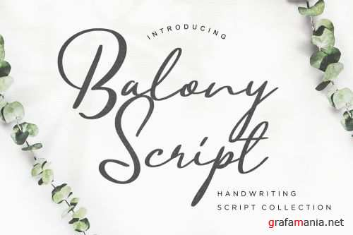 Balony Script Handwriting
