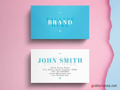 Minimalist Business Card Layout 260561070 PSDT