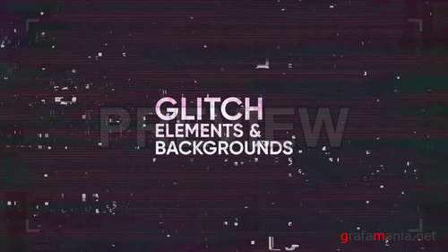 MA - Glitch Elements & Backgrounds 247004