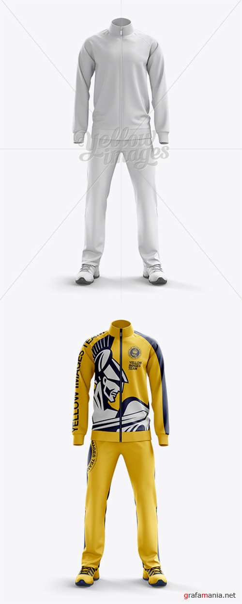 Men's Tracksuit Mock-up / Front View 11007