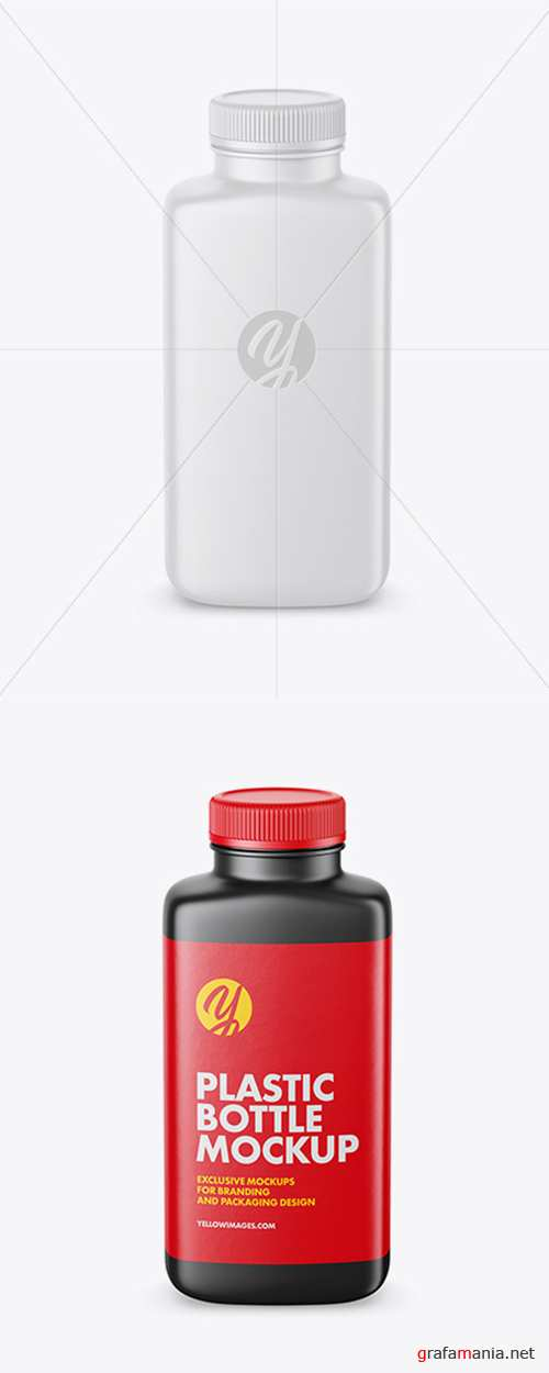 Matte Plastic Bottle Mockup - High-Angle Shot 42369 TIF