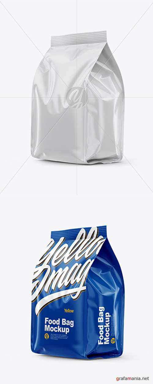 Glossy Food Bag Mockup 38645 TIF