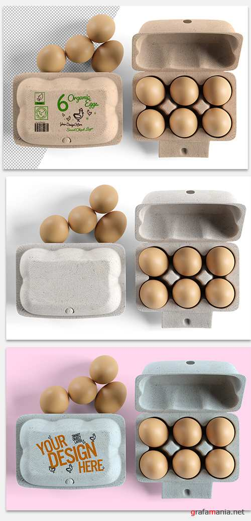 PSDT Egg Carton Packaging Design Mockup 274452094