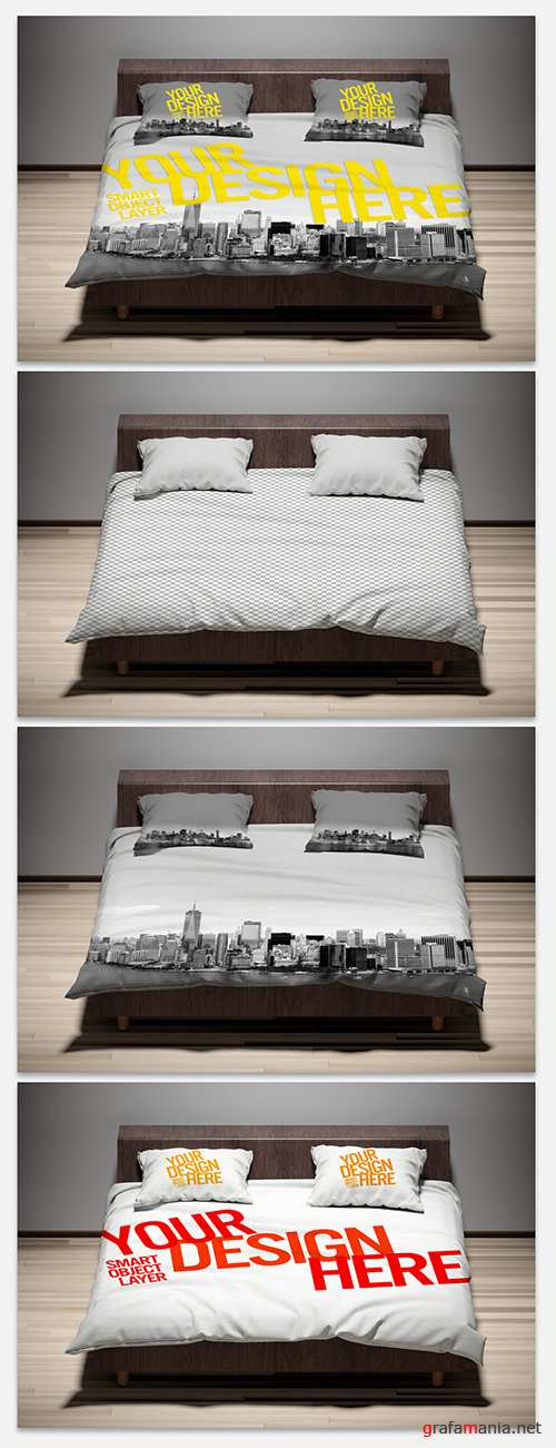 PSDT Pillows and Comforter Mockup 273935804