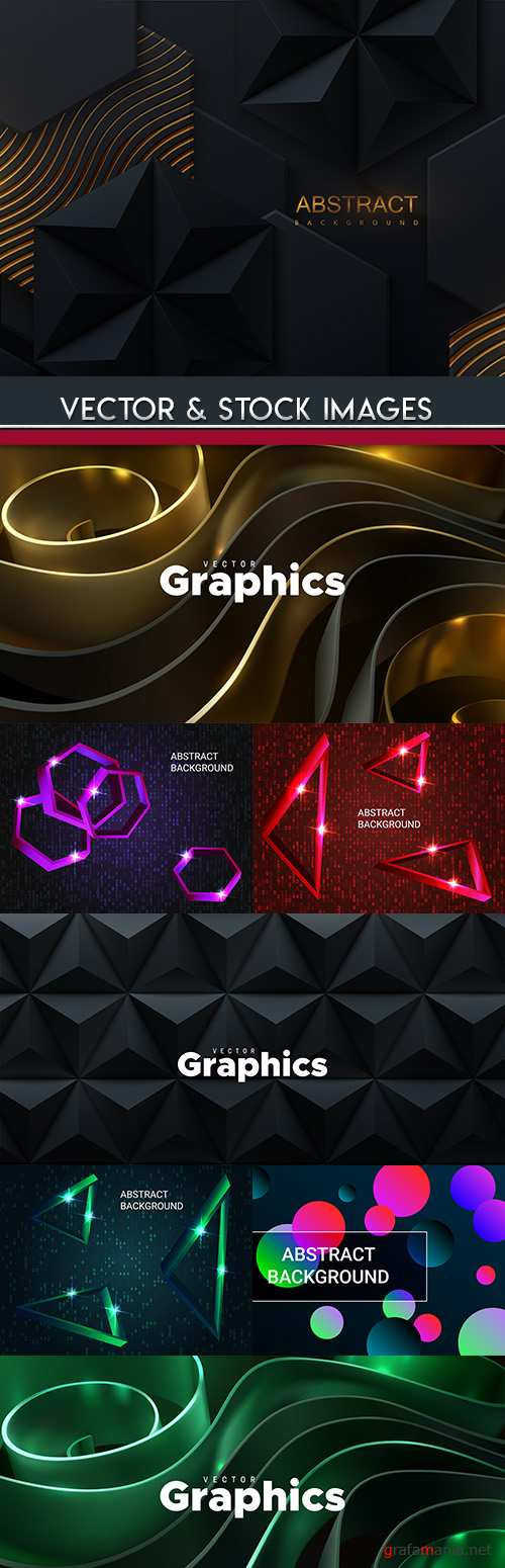 Modern decorative background geometrical elements design