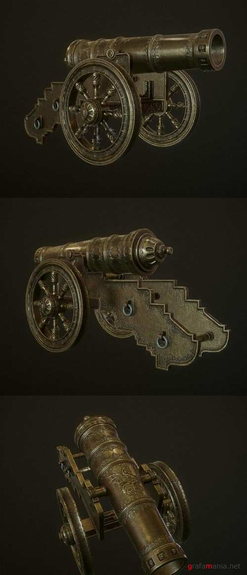 Ancient Bronze Cannon – 3D Model