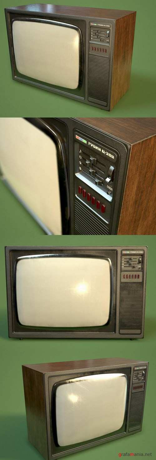 Old USSR TV set – 3D Model