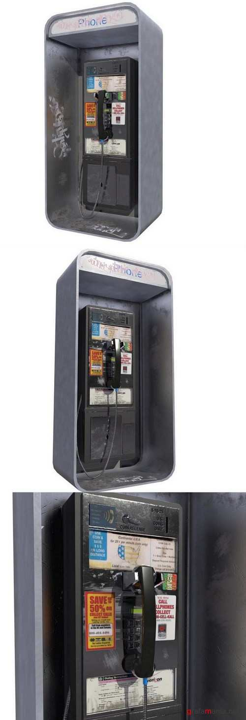 Matrix Pay Phone – 3D Model