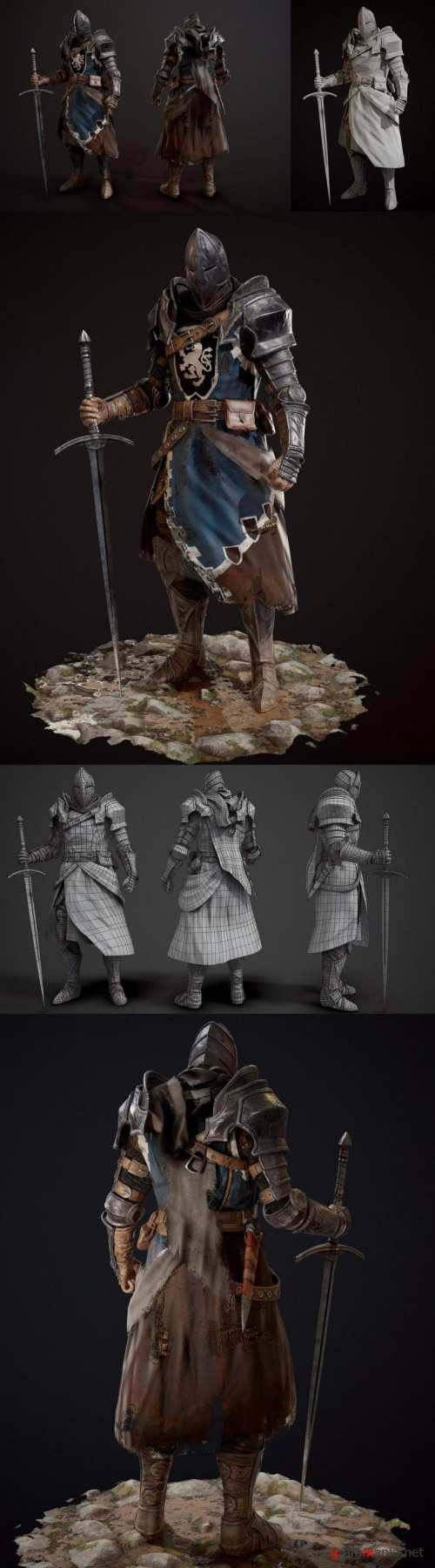 The Knight – 3D Model