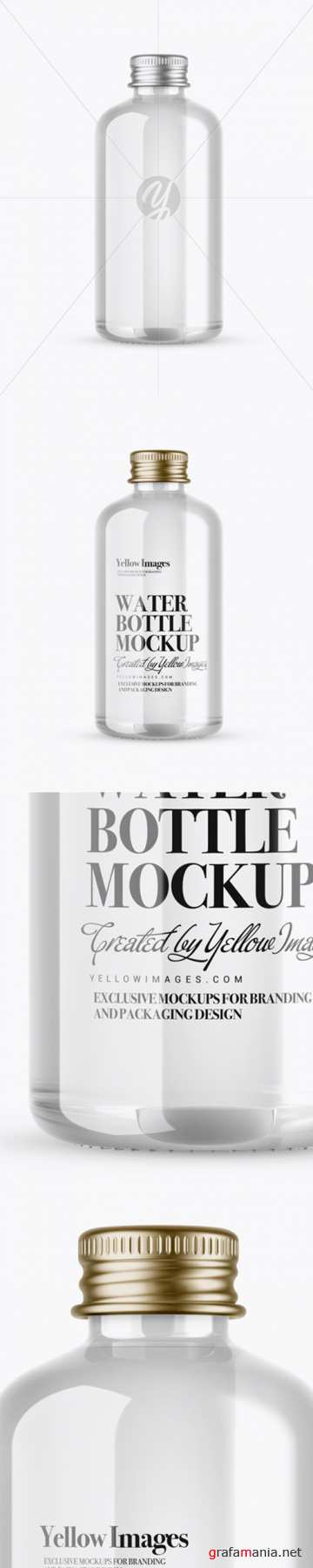 Clear Glass Water Bottle Mockup 21006 TIF
