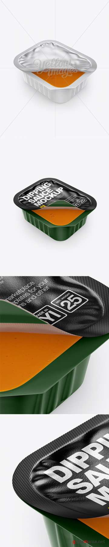 Spicy Buffalo Dipping Sauce Mockup (High-Angle Shot) 15085 TIF