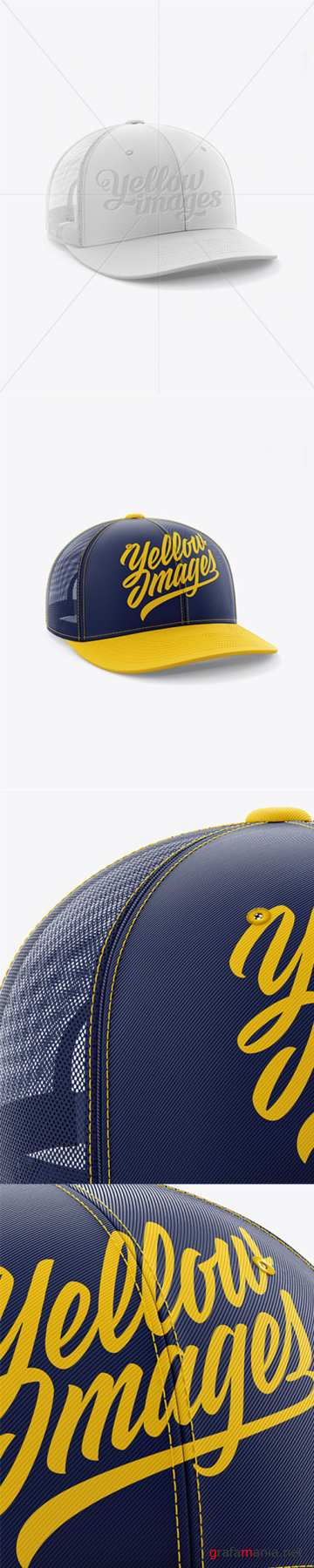 Trucker Cap Mockup - Half Side View 18717 TIF