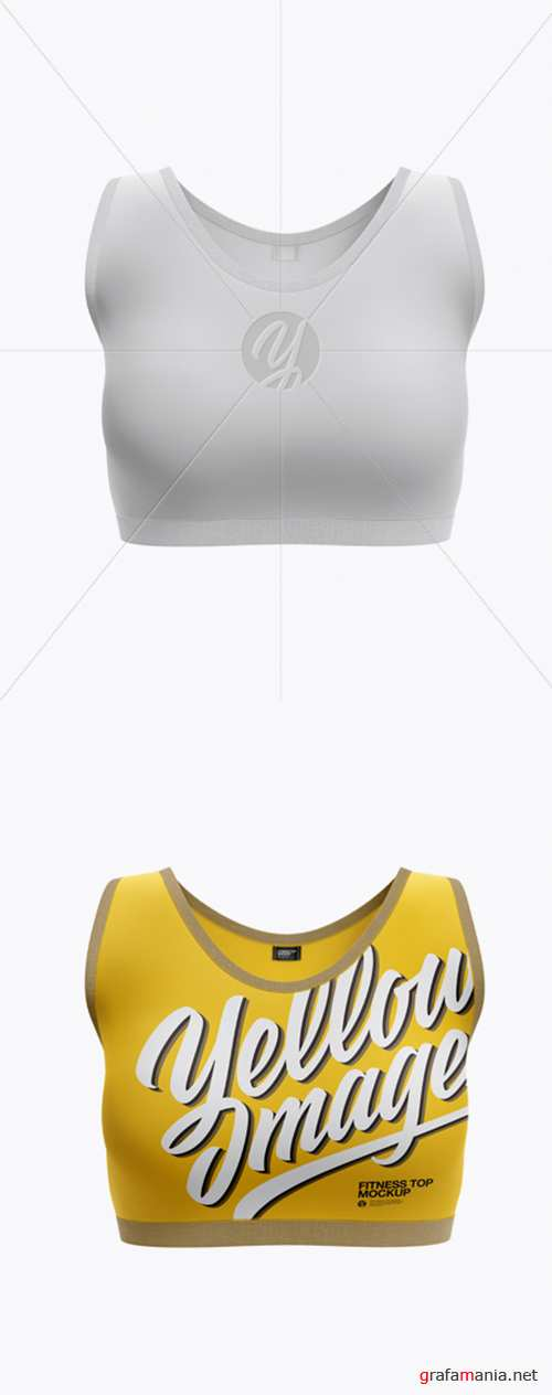 Womens Fitness Top Mockup - Front View 20951 TIF
