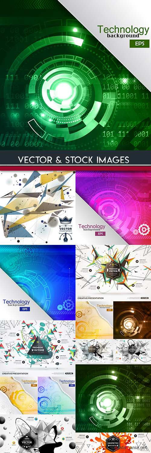 Creative abstract technical and geometric background