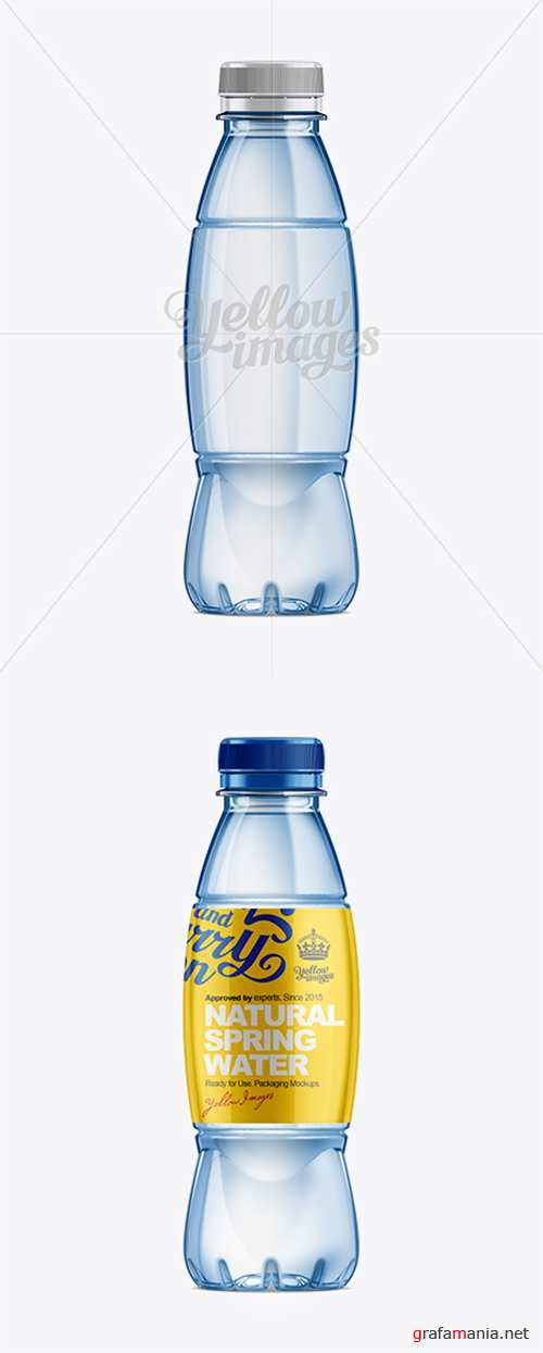 500ml Plastic Water Bottle Mockup 10598 TIF