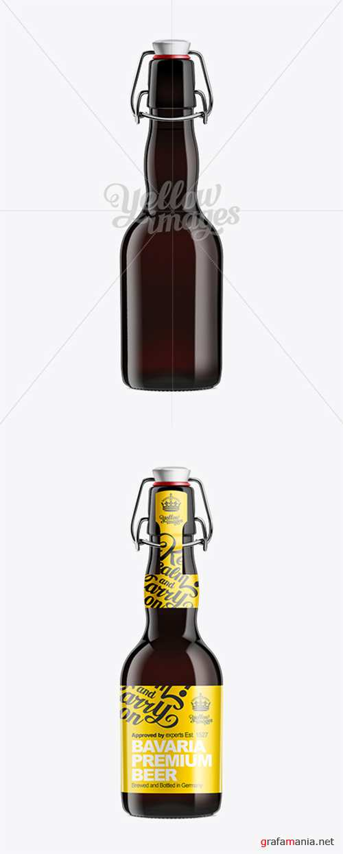 Black Amber Bottle with Swing Top Closure 330ml 10410