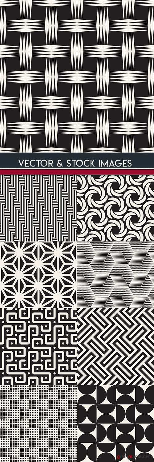 Modern abstract geometry seamless pattern design 29