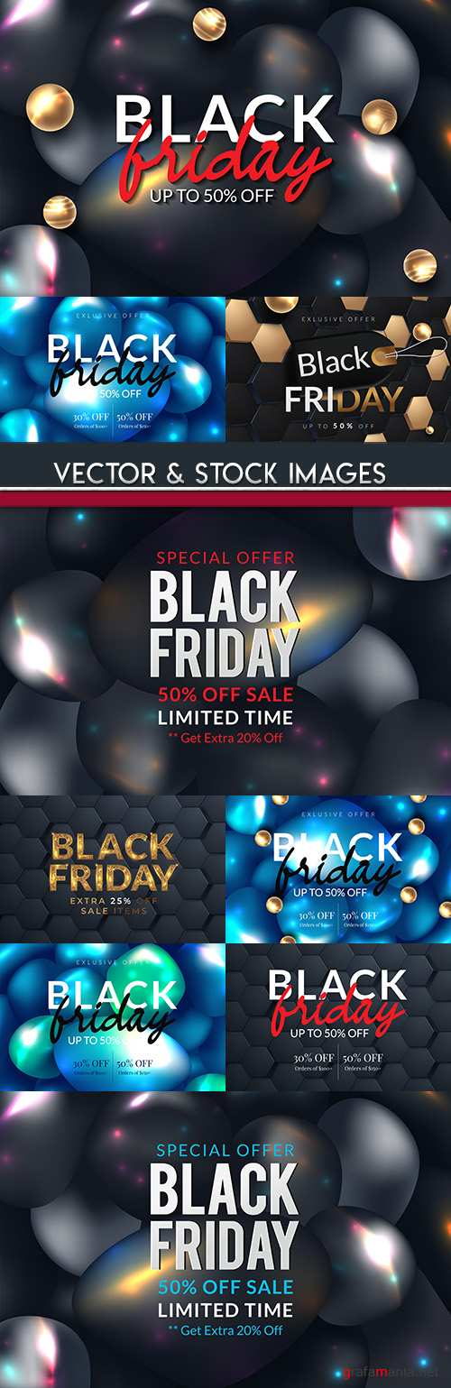 Black Friday and sale special design illustration 16